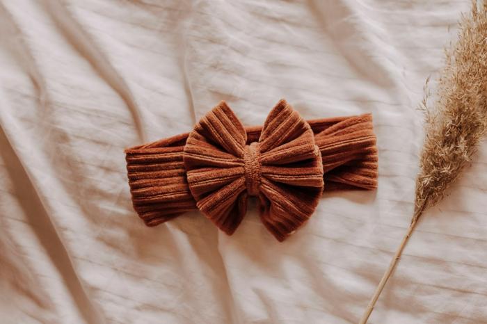 Caroline Cognac Bow [0]