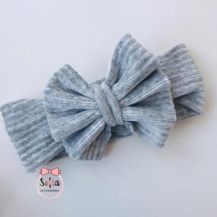 Caroline Light Grey Bow [0]
