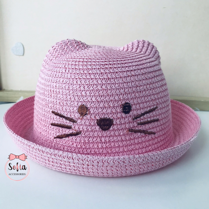 Palarie cu urechi - Lovely Cat - Pink [0]