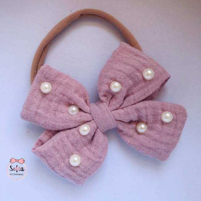 Lina Pink Bow & Pearls [0]