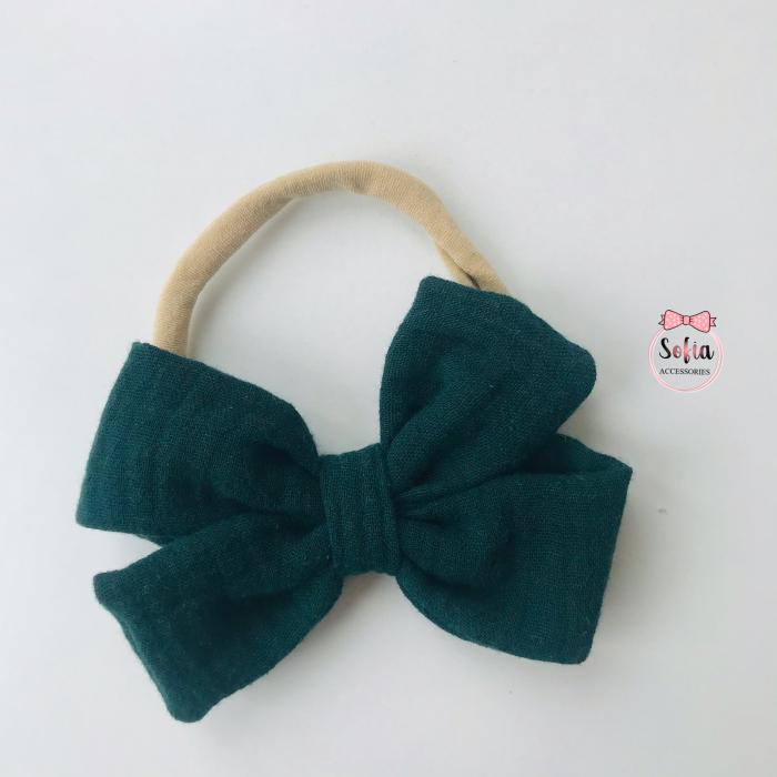 Lina Dark Green Bow [0]