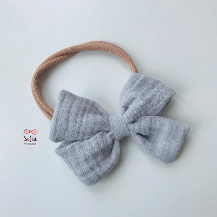 Lina Grey Bow [0]