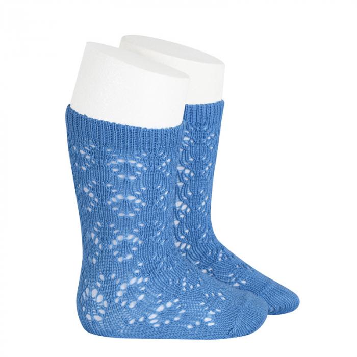 Sosete tricotate din bumbac - blue - [0]