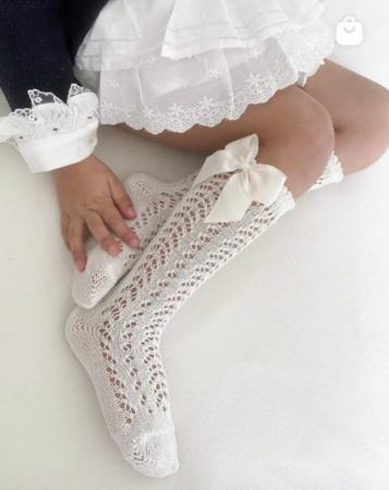 Sosete tricotate din bumbac - White - [1]