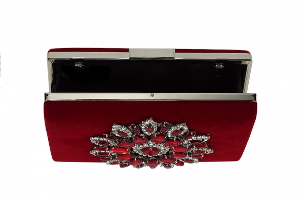 Geanta clutch burdundy Mira 4