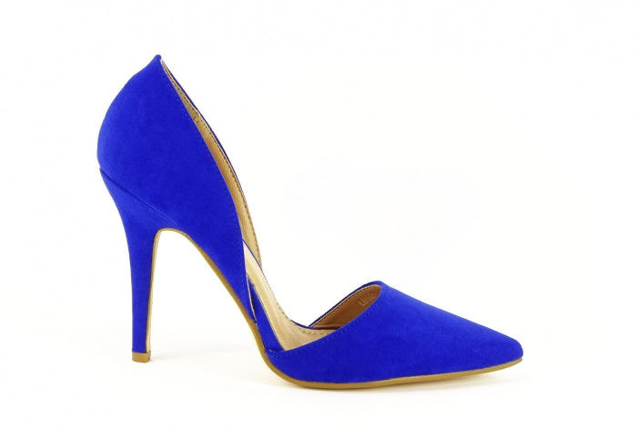 PANTOFI sTILETTO BLUE DECUPATI LATERAL ANTONIA 6