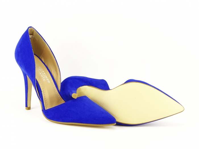 PANTOFI sTILETTO BLUE DECUPATI LATERAL ANTONIA 3