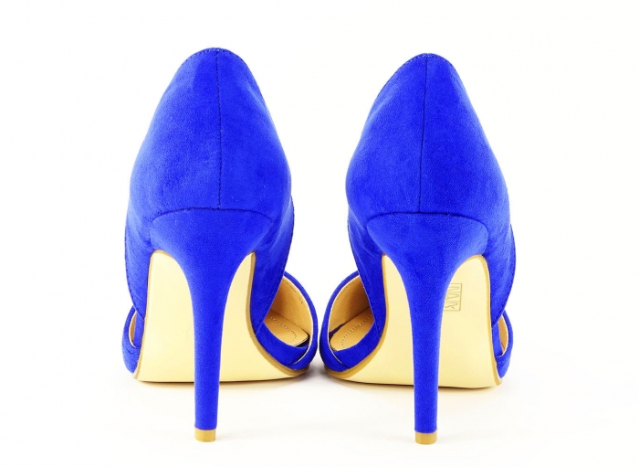 PANTOFI sTILETTO BLUE DECUPATI LATERAL ANTONIA 5