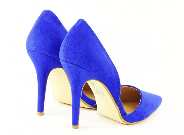 PANTOFI sTILETTO BLUE DECUPATI LATERAL ANTONIA 4