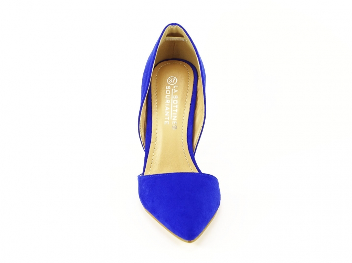 PANTOFI sTILETTO BLUE DECUPATI LATERAL ANTONIA 2