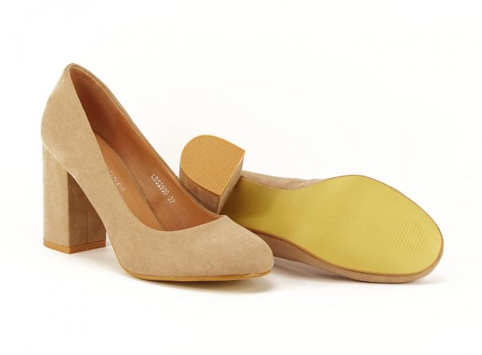 Pantofi dama nude cu toc gros Angela 2