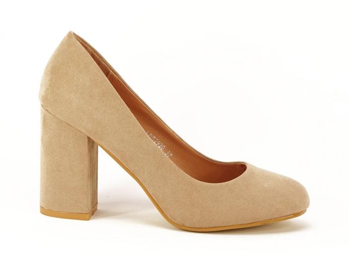 Pantofi dama nude cu toc gros Angela 0