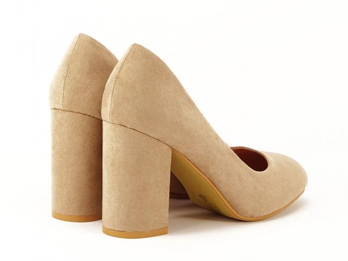 Pantofi dama nude cu toc gros Angela 3