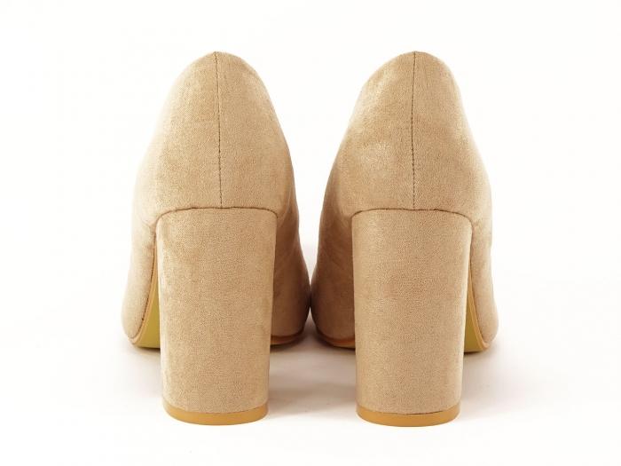 Pantofi dama nude cu toc gros Angela 4