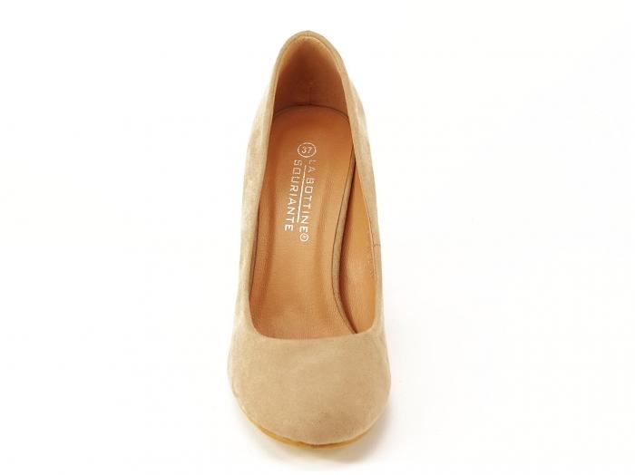 Pantofi dama nude cu toc gros Angela 5