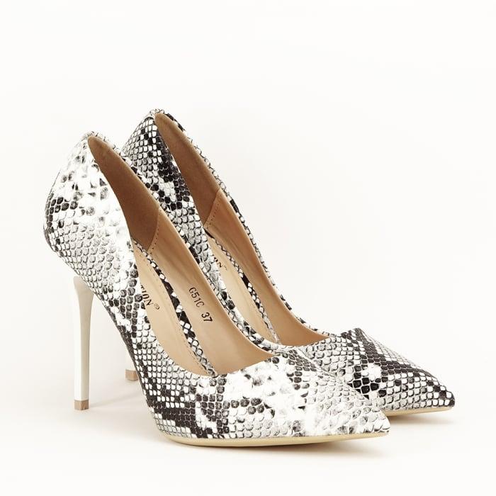 Pantofi eleganti cu imprimeu de sarpe Adele 2