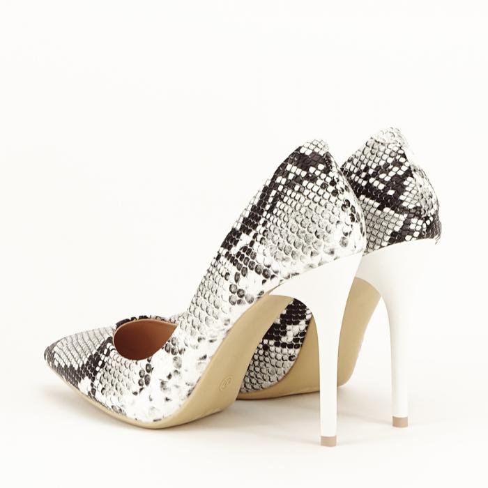 Pantofi eleganti cu imprimeu de sarpe Adele 3