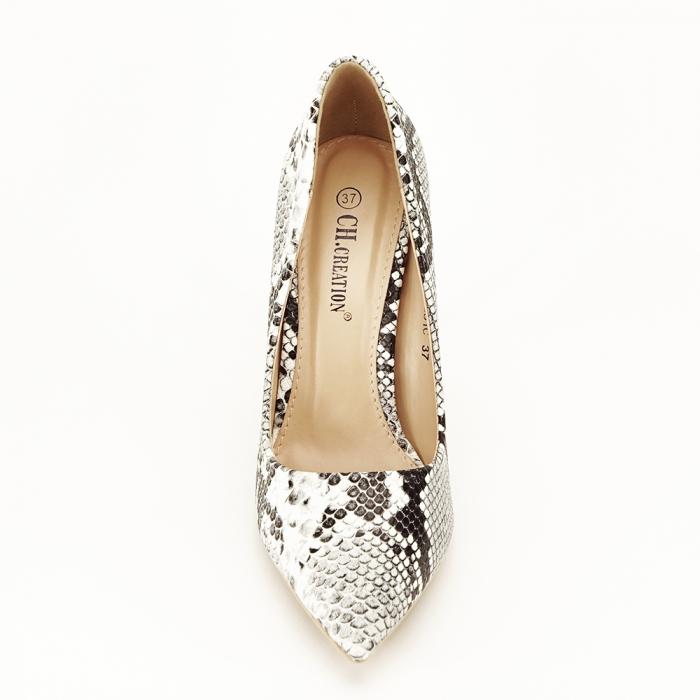 Pantofi eleganti cu imprimeu de sarpe Adele 5