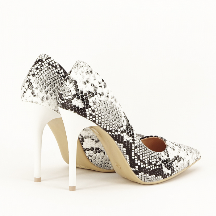 Pantofi eleganti cu imprimeu de sarpe Adele 4