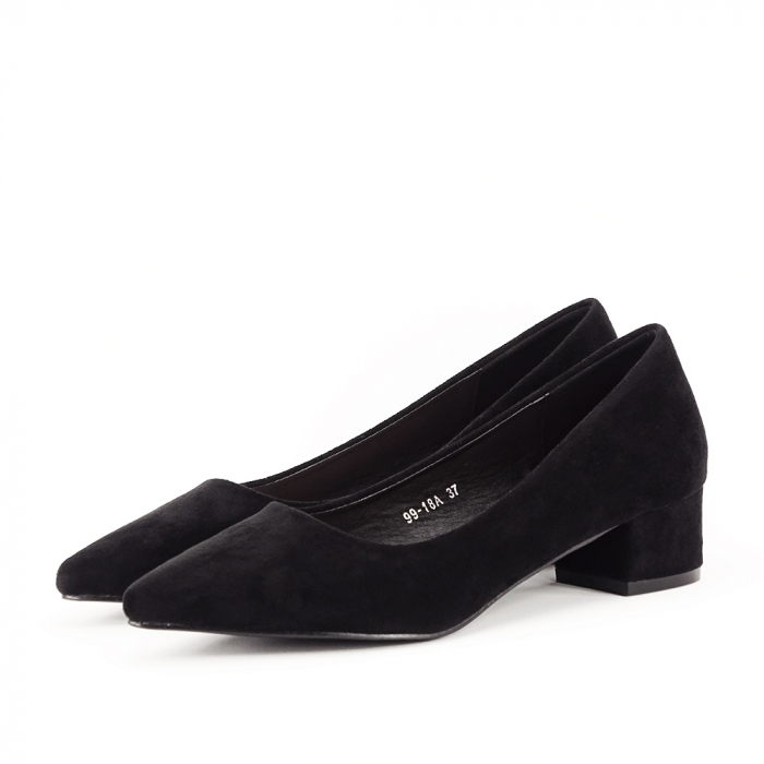 Pantofi negri cu toc mic Elisa 1