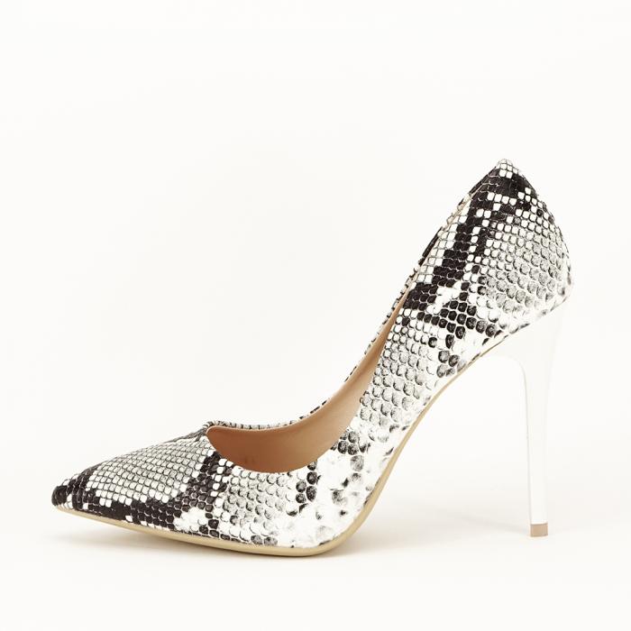 Pantofi eleganti cu imprimeu de sarpe Adele 1