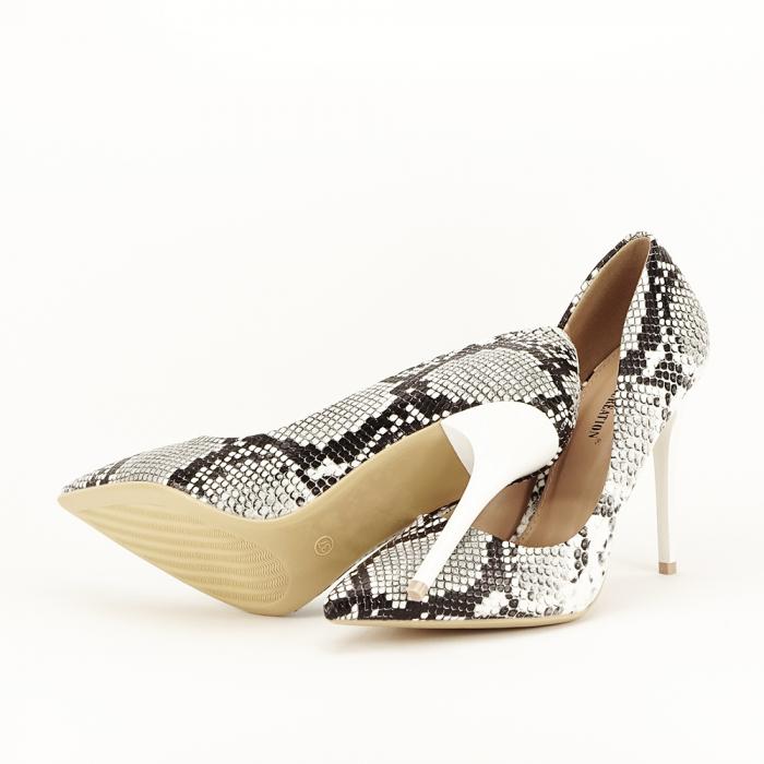 Pantofi eleganti cu imprimeu de sarpe Adele 6