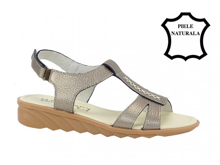 Sandale argint vechi din piele naturala Silvia 1