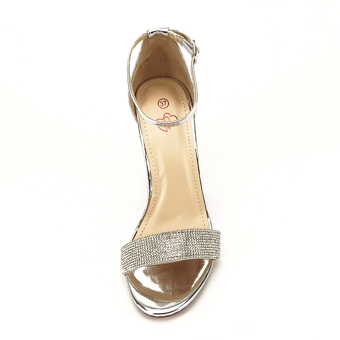 Sandale argintii cu toc gros Diana [5]