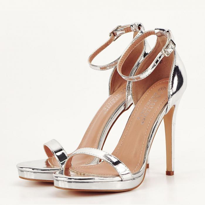 Sandale elegante argintii Dorothy 2 [0]