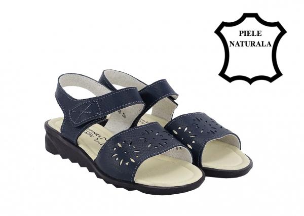 Sandale bleumarin din piele naturala Catis 1