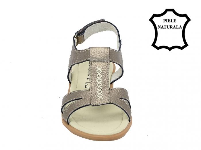 Sandale argint vechi din piele naturala Silvia 4