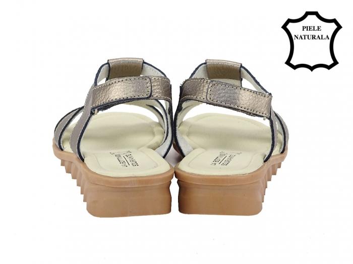 Sandale argint vechi din piele naturala Silvia 3