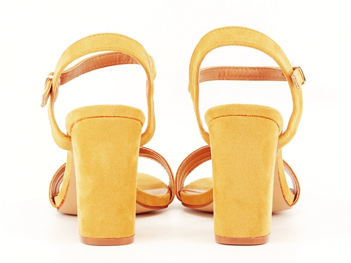 Sandale dama galbene cu toc gros Iris 6