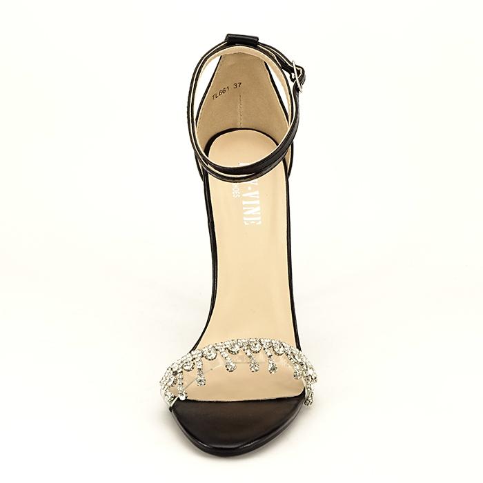 Sandale negre cu toc subtire Angelica 5