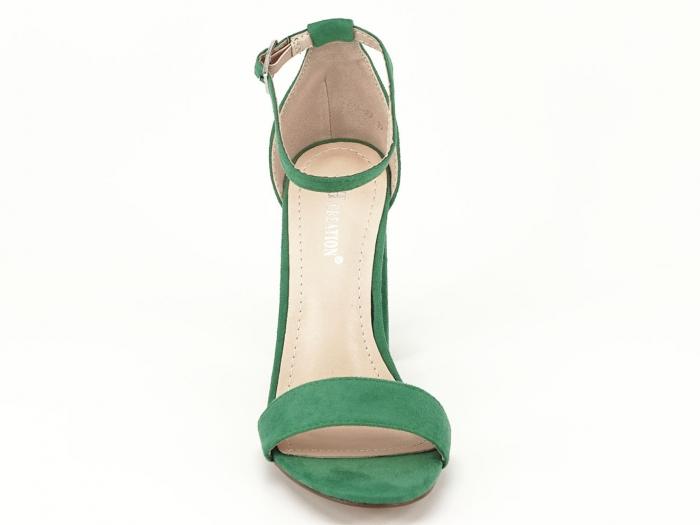 Sandale verzi cu toc gros si bareta subtire Mathilde 2 6