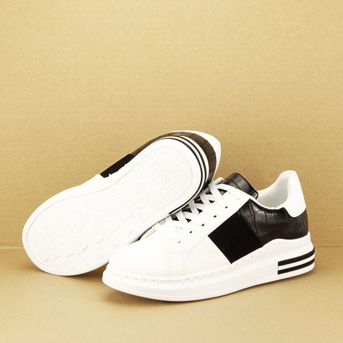 Sneakers alb cu negru Carise [4]