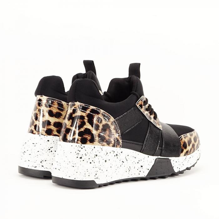 Sneakers negri cu talpa alba Limana 6
