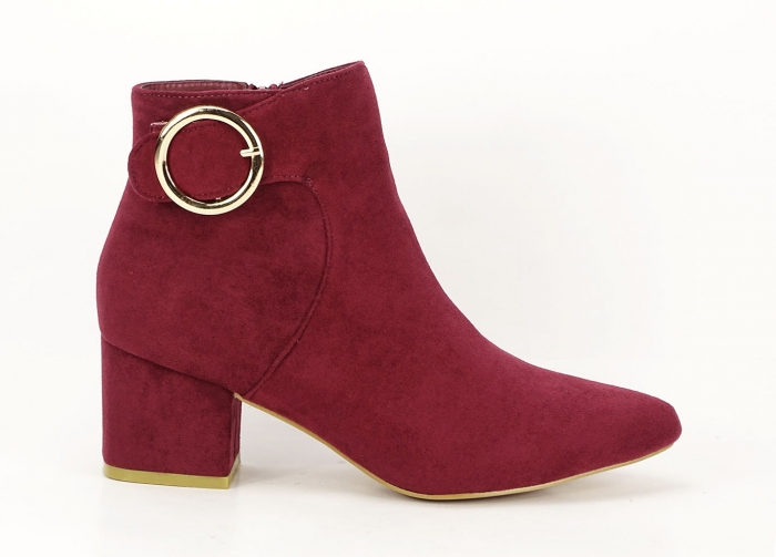 BOTINE BORDO CU TOC MIC JENNIFER 0