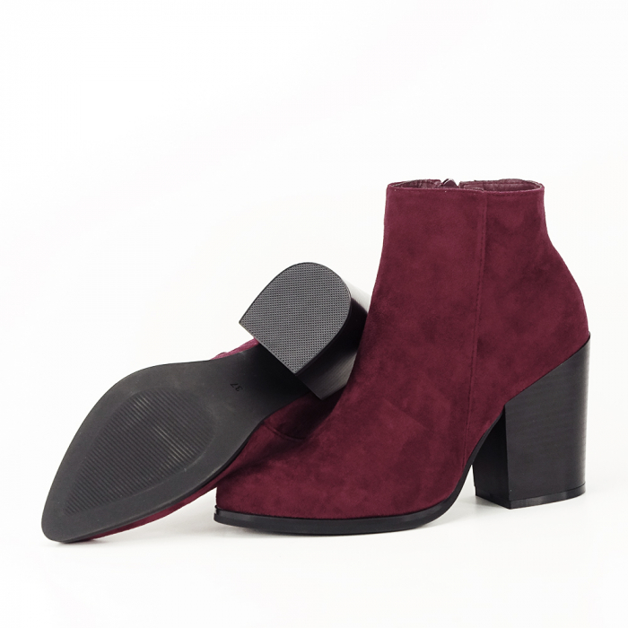 Botine bordo casual/office Vicky 7