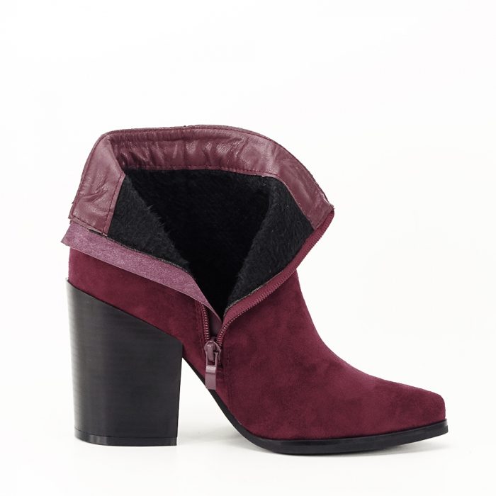 Botine bordo casual/office Vicky 4