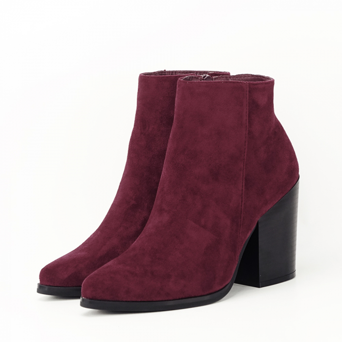 Botine bordo casual/office Vicky 1