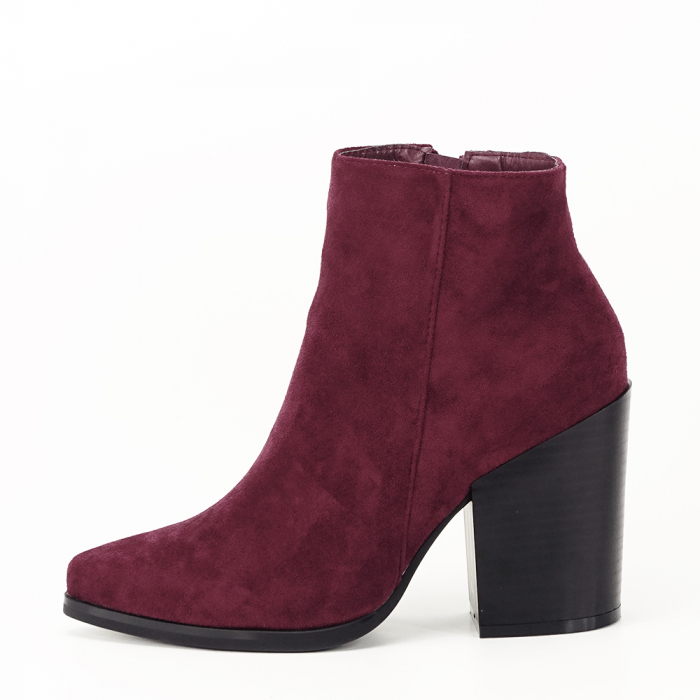 Botine bordo casual/office Vicky 0