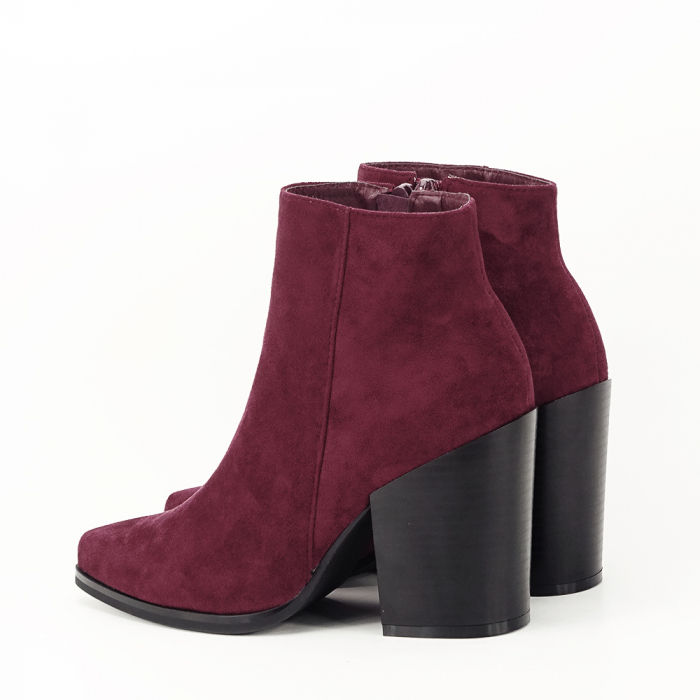 Botine bordo casual/office Vicky 8