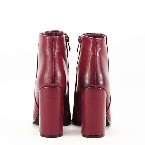 Botine elegante rosu inchis Mira 6