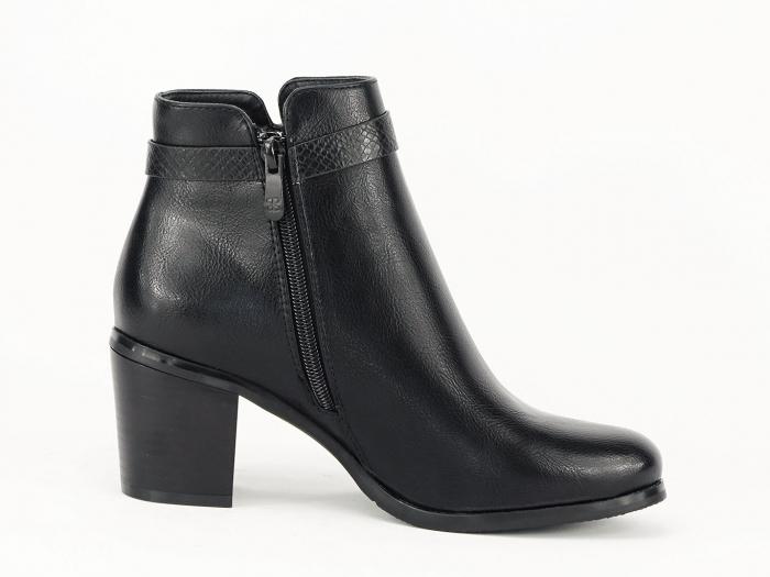 Botine negre elegante Dalida 6
