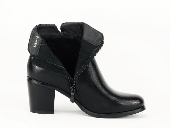 Botine negre elegante Dalida 4