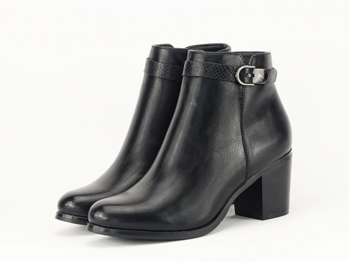 Botine negre elegante Dalida 1