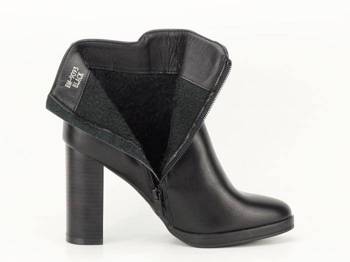Botine negre elegante cu toc inalt Calypso 3