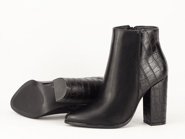 Botine negre elegante Catisse 8