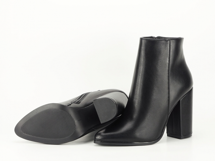 Botine negre elegante cu toc inalt Lady 9